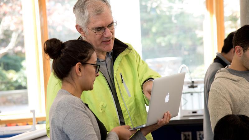 Professor Gavin with student