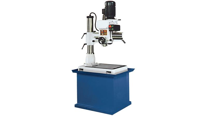 Radial drilling and tapping machine